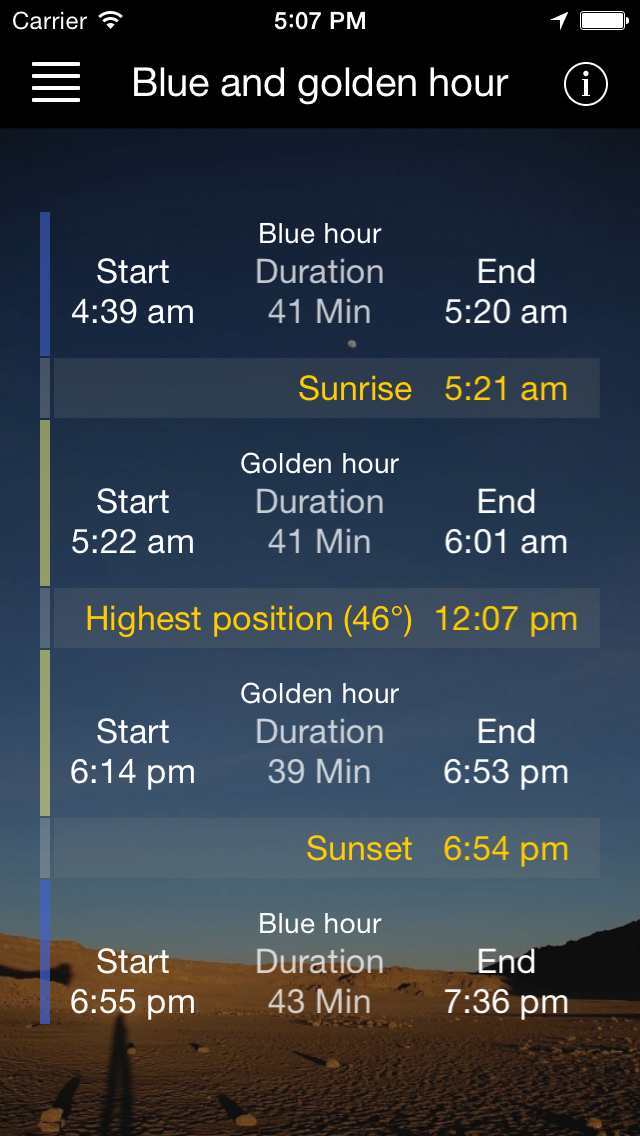 Sun & Moon - App for iPhone, iPad and iPod touch